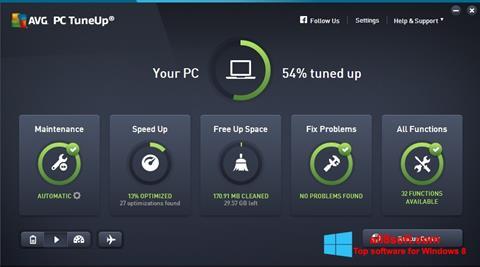 Ekran görüntüsü AVG PC Tuneup Windows 8