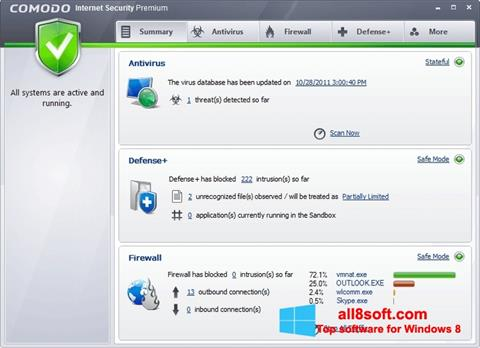Ekran görüntüsü Comodo Internet Security Premium Windows 8