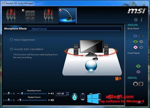 Ekran görüntüsü Realtek Audio Driver Windows 8