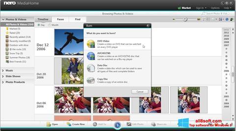 Ekran görüntüsü Nero MediaHome Windows 8
