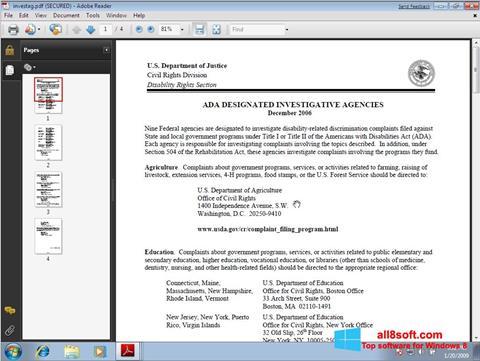 Ekran görüntüsü Adobe Reader Windows 8