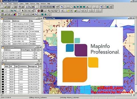 Ekran görüntüsü MapInfo Professional Windows 8