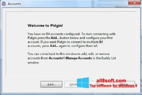 Ekran görüntüsü Pidgin Windows 8