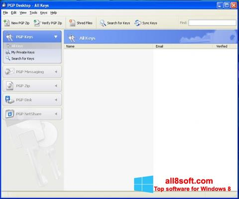 Ekran görüntüsü PGP Desktop Windows 8