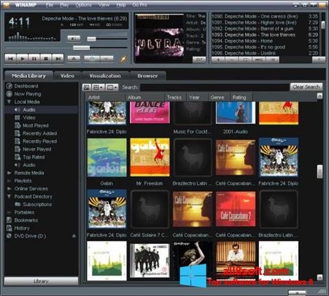 Ekran görüntüsü Winamp Windows 8