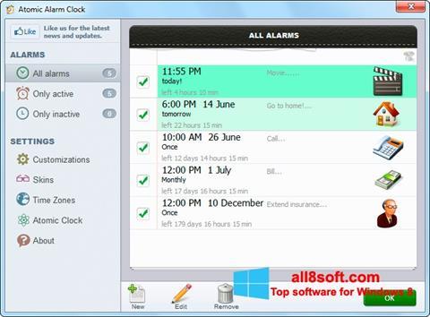 Ekran görüntüsü Atomic Alarm Clock Windows 8