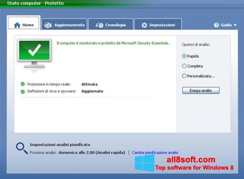 Ekran görüntüsü Microsoft Security Essentials Windows 8