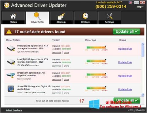 Ekran görüntüsü Advanced Driver Updater Windows 8