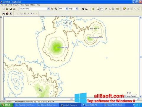 Ekran görüntüsü MapSource Windows 8