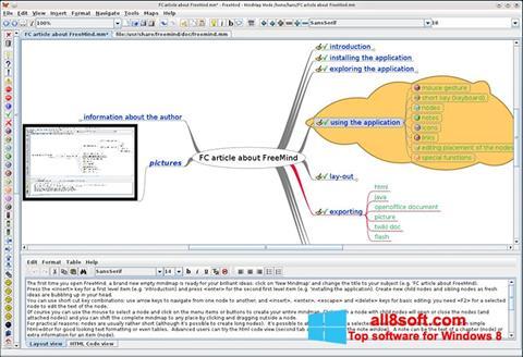 Ekran görüntüsü FreeMind Windows 8