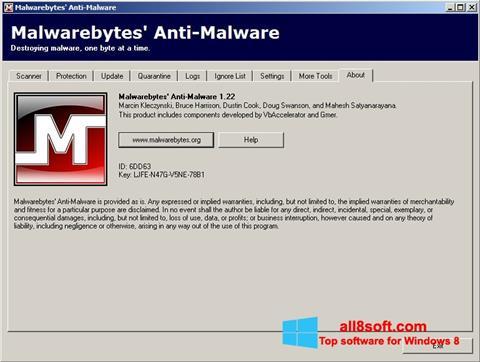 Ekran görüntüsü Malwarebytes Anti-Malware Free Windows 8