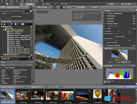 Ekran görüntüsü DxO Optics Pro Windows 8