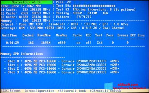 Ekran görüntüsü MemTest Windows 8