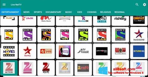 Ekran görüntüsü Net TV Windows 8