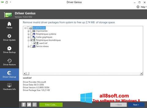 Ekran görüntüsü Driver Genius Windows 8