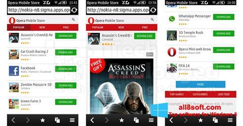 Ekran görüntüsü Opera Mobile Windows 8