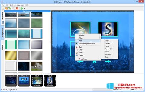 Ekran görüntüsü DVDStyler Windows 8