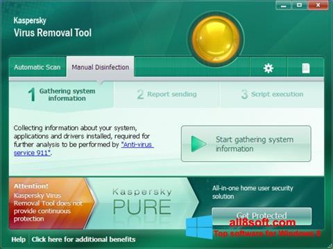 Ekran görüntüsü Kaspersky Virus Removal Tool Windows 8