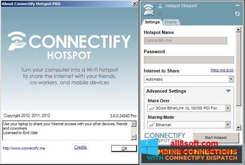 Ekran görüntüsü Connectify Hotspot PRO Windows 8