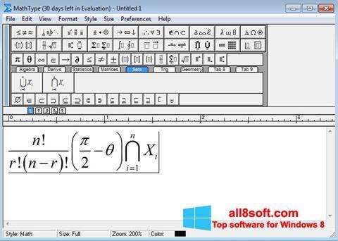 Ekran görüntüsü MathType Windows 8