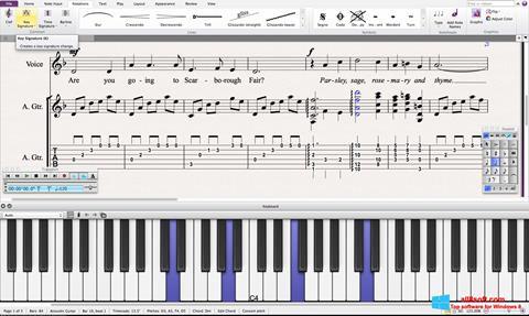 Ekran görüntüsü Sibelius Windows 8