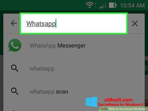Ekran görüntüsü WhatsApp Windows 8