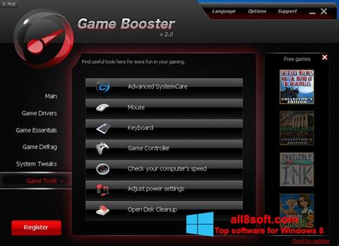 Ekran görüntüsü Game Booster Windows 8