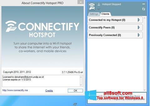 Ekran görüntüsü Connectify Windows 8