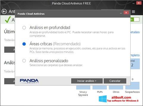 Ekran görüntüsü Panda Cloud Windows 8