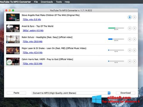 Ekran görüntüsü Free YouTube to MP3 Converter Windows 8