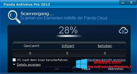 Ekran görüntüsü Panda Antivirus Pro Windows 8