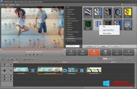 Ekran görüntüsü Movavi Video Suite Windows 8