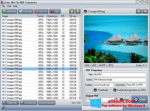 Ekran görüntüsü Image To PDF Converter Windows 8
