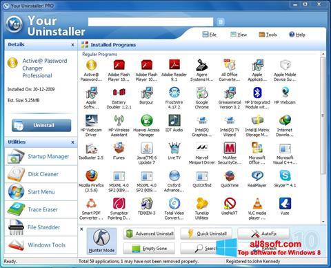 Ekran görüntüsü Your Uninstaller Windows 8