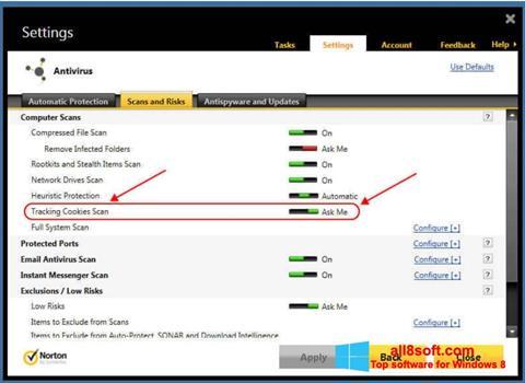 Ekran görüntüsü Norton Windows 8