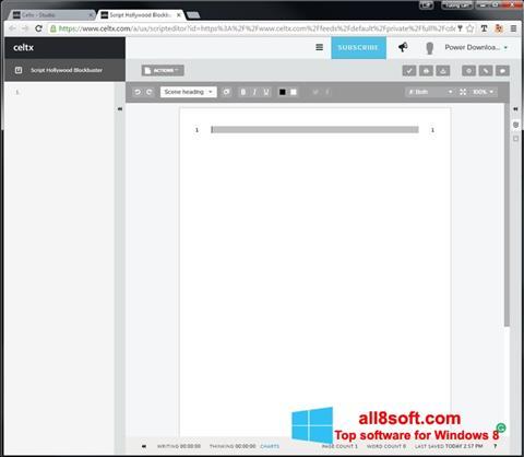 Ekran görüntüsü Celtx Windows 8