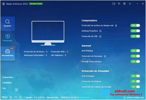 Ekran görüntüsü Baidu Antivirus Windows 8