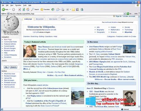 Ekran görüntüsü Internet Explorer Windows 8