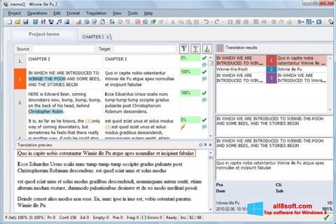 Ekran görüntüsü MemoQ Windows 8