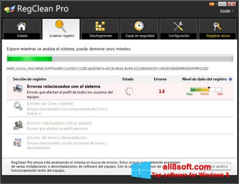 Ekran görüntüsü RegClean Pro Windows 8