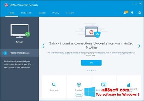 Ekran görüntüsü McAfee Windows 8