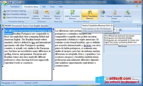 Ekran görüntüsü PROMT Windows 8