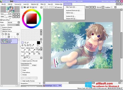 Ekran görüntüsü Paint Tool SAI Windows 8