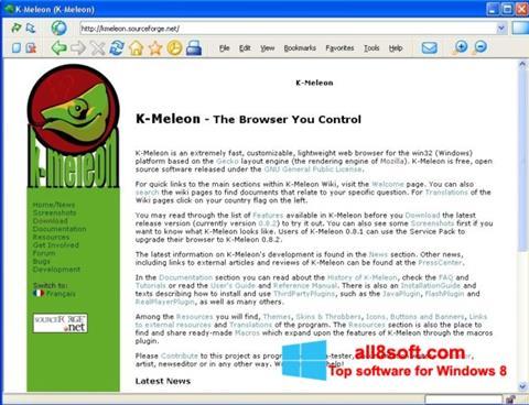 Ekran görüntüsü K-Meleon Windows 8