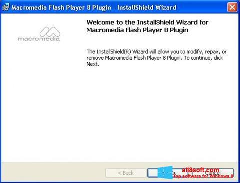 Ekran görüntüsü Macromedia Flash Player Windows 8