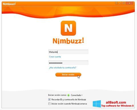 Ekran görüntüsü Nimbuzz Windows 8
