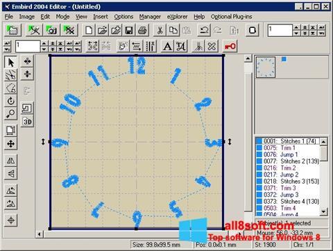 Ekran görüntüsü Embird Windows 8