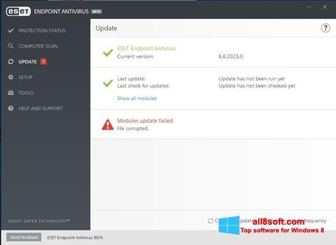 Ekran görüntüsü ESET Endpoint Antivirus Windows 8