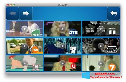 Ekran görüntüsü Crystal TV Windows 8