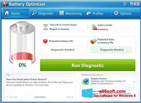 Ekran görüntüsü Battery Optimizer Windows 8